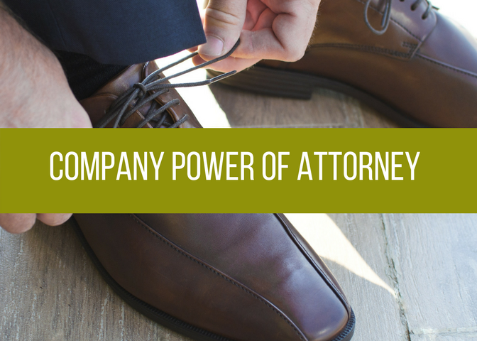 Company Power Of Attorney